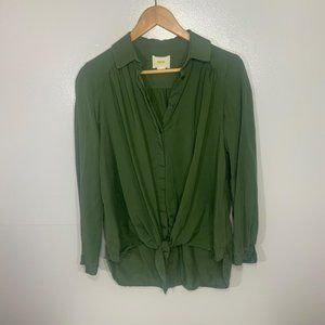 Anthropologie Extra Small Green Top